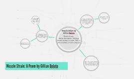 Muscle Strain: A Poem by Gillian Belote