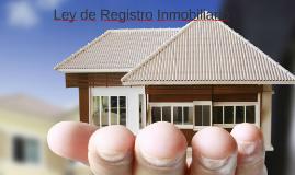 LEY DE REGISTRO MOVILARIO