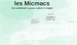 Vie quotidienne/ Langue, culture et religion