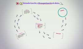 Estandarización y Homogenización de datos.