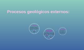 procesos geologicos externos