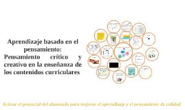Copy of Aprendizaje basado en el pensamiento: