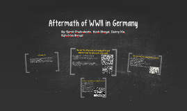 Aftermath of WWII in Germany