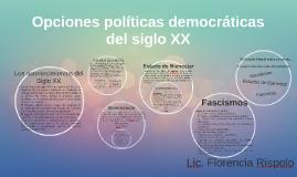 Alternativas democráticas del siglo XX