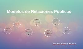 Copy of Modelos de Relaciones Públicas