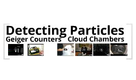 Detecting particles