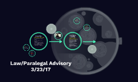 Law/Paralegal Advisory 3/23/17