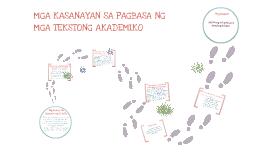 Mga Kasanayan Sa Pagbasa ng mga Tekstong Akademiko