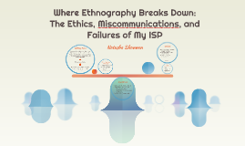 Where Ethnography Breaks Down: The Ethics, Miscommunications