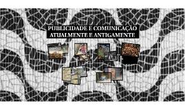 PUBLICIDADE E COMUNICAÇÃO