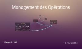 Copy of IAE - Groupe 1 - Management des Opérations