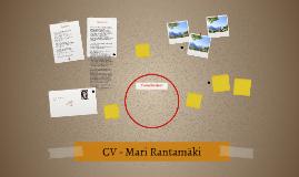 CV - Mari Rantamäki