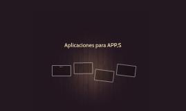 Aplicaciones para APP,S