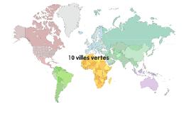 10 villes vertes