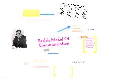 Copy of Berlo's Model of Communication