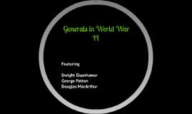 Generals in World War II
