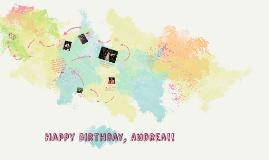 Happy Birthday, Andrea!!!