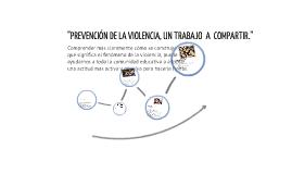 """""""PREVENCIÓN DE LA VIOLENCIA, UN TRABAJO  A  COMPARTIR."""""""