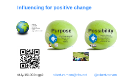 151002 Positive influence for change