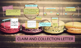 CLAIM AND COLLECTION LETTER