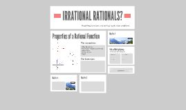 IRRATIONAL RATIONALS