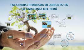 Copy of TALA INDISCRIMINADA DE ARBOLES: AMAZONÍA DEL PERÚ