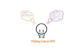 ASU Printing Costs