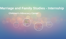 Marriage and Family Studies - Internship