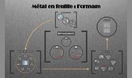 Mise en forme des métaux en feuille