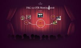 PAC-12 OTR Meeting 2018