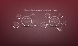 Thesis Statement and Main Idea Workshop