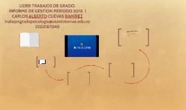 GESTIÓN 2018-1 LIDER TRABAJOS DE GRADO