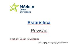 Revisão: Estatística