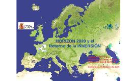 H2020 y Retorno de la inversión