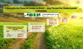 A Educação dos Povos do Campo no Brasil – Uma Perspectiva Modernizante/Civilizatória
