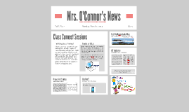 Copy of Mrs. O'Connor's News