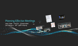 Planning Effective Meetings