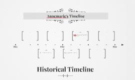 Annemarie's Timeline