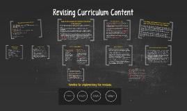 Revising Curriculum Content