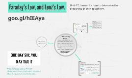 Faradys Law, and Lenz Law.
