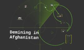 Demining in Afghanistan