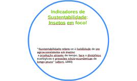 Indicadores de Sustentabilidade: Insetos em foco!