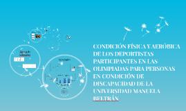 CCONDICIÓN FÍSICA Y AERÓBICA DE LOS DEPORTISTAS MENORES DE 1