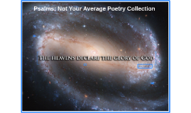 Psalms: Not Your Average Poetry Collection