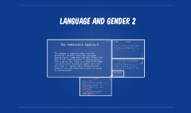 Language and GENDER 2