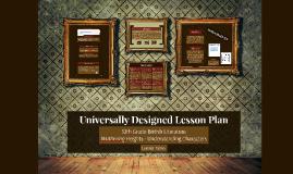 Universally Designed Lesson Plan