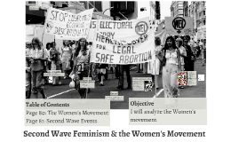 Second Wave Feminism and the Women's Movement