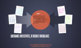 SOCIEDADES INEXISTENTES, DE HECHO E IRREGULARES