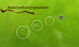 Modal perfects of speculation