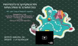 PROPUESTA DE LA PLANEACIÓN DE CURSO DE VERANO 2013
